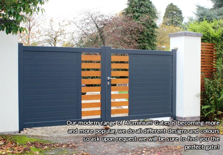 Modern Style Aluminium Gate Auto Gates Northwest