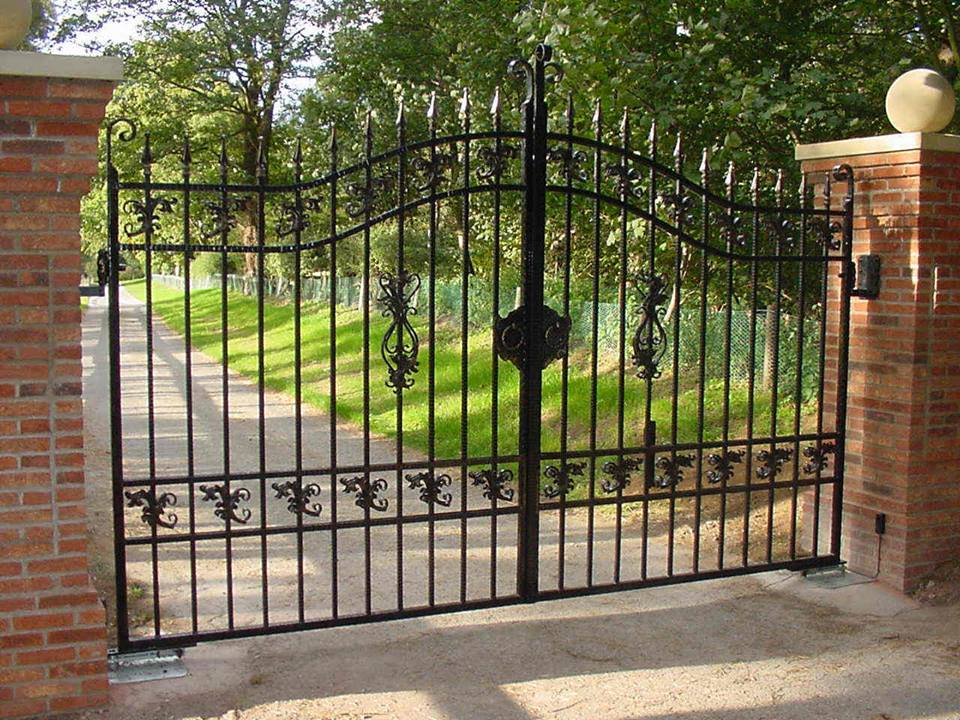 Wrought Iron Metal Gate
