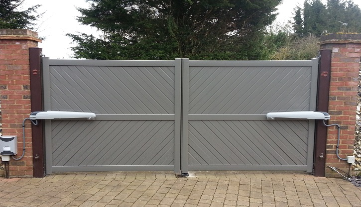 Grey Aluminium Gate