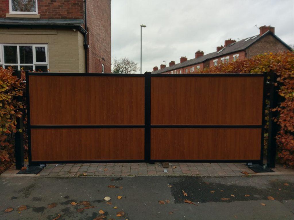 Composite swing gates