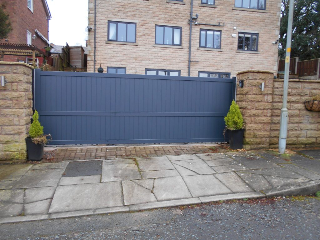 Grey Aluminium Sliding Gate
